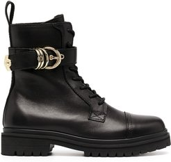 buckle-detail 30mm ankle boots - Black