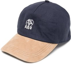 embroidered baseball cap - Blue