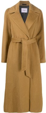 belted robe coat - Brown
