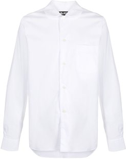 rounded collar shirt - White