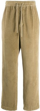 corduroy wide-leg trousers - Neutrals
