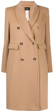 double-breasted coat - Neutrals
