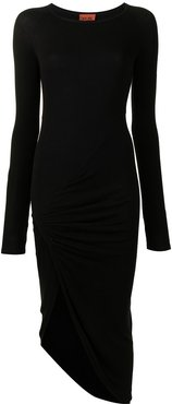 Bristol long-sleeved midi dress - Black