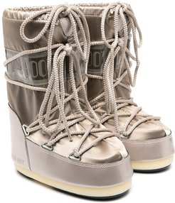 gold-tone moon boots