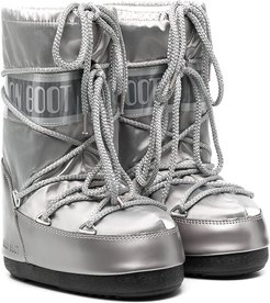silver-tone moon boots