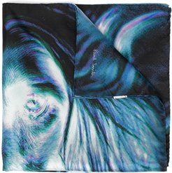 afghan hound pocket square - Blue