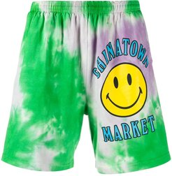 logo tie-dye print shorts - PURPLE