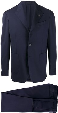 two piece wool suit - Blue
