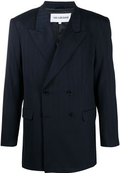 fitted double-breasted suit - Blue