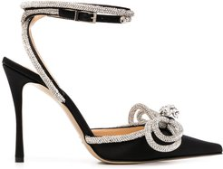crystal-bow pumps - Black