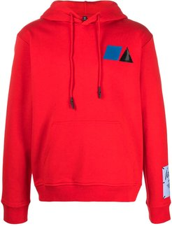 graphic print hoodie - Red