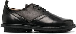leather lace-up shoes - Black