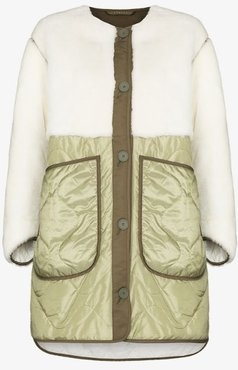 The Reversible Shearling Panelled Coat
