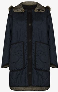 The Reversible Quilt hooded coat