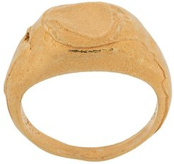 textured effect ring - GOLD