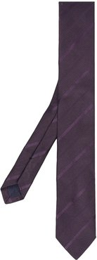 diagonal stripe tie - PURPLE