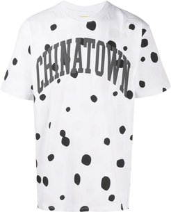 UV Dots-print cotton T-shirt - White