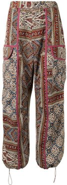 paisley-print tapered trousers