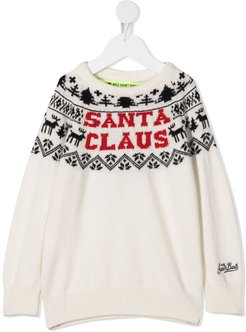 Santa Claus knitted jumper - White