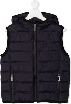 quilted padded gilet - Blue