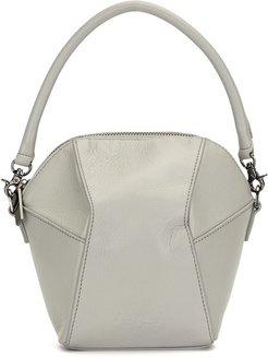 Polyhedron Hand leather mini bag - Grey