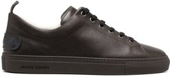 low-top leather sneakers - Brown