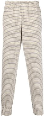 check relaxed-fit trousers - Brown
