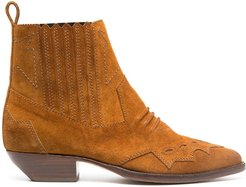 Tucson suede ankle boots - Brown