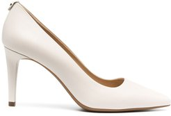 pointed leather pumps - Neutrals