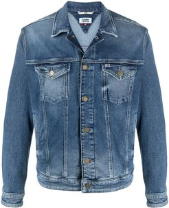 faded wash demin jacket - Blue