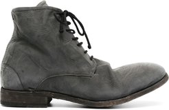 chunky lace-up leather boots - Grey