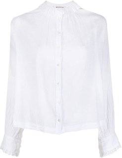 buttoned cotton blouse - White