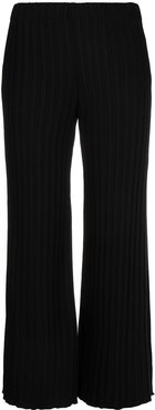 cropped high-rise trousers - Black