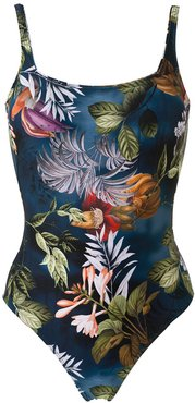 Hapuna print one-piece - Blue