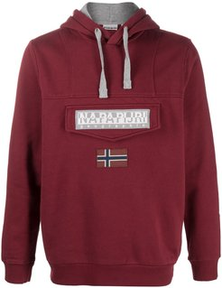 Burgee Win logo patch hoodie - Red