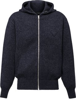 triangle patch hoodie - Blue