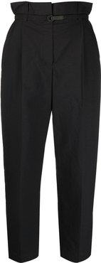 high-waisted trousers - Grey