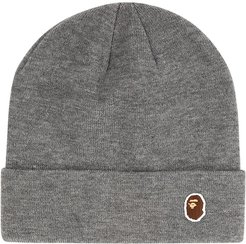 APE Head One Point Knit cap - Grey