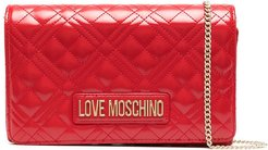 diamond-quilted cross body bag - Red