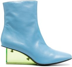 Ana leather ankle boots - Blue