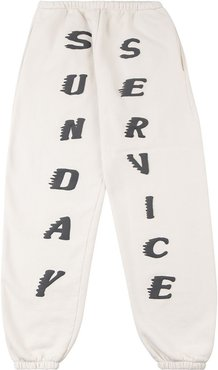 Sunday Service track pants - White