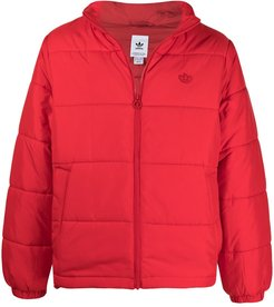 Padded Stand Collar padded jacket - Red