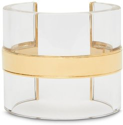 transparent cylindrical cuff - GOLD