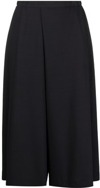 wide-leg cropped trousers - Blue