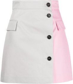 two-tone A-line skirt - PINK