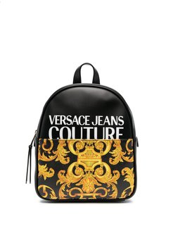 logo-print zip-up backpack - Black
