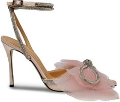 105mm tulle-bow pumps - PINK