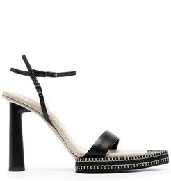 pointed-toe leather sandals - Black