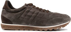 lace-up suede trainers - Brown