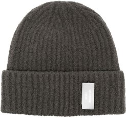 logo-patch beanie - Grey